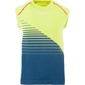 La Sportiva Stream - Camiseta sin mangas running Hombre - verde/azul